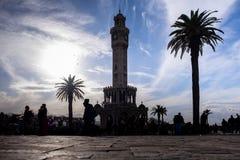 Tour d'horloge historique d'Ä°zmir, Turquie Photos stock