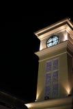 Tour d'horloge la nuit Photo libre de droits