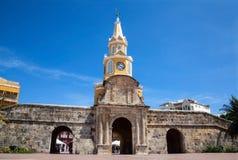 Tour d'horloge publique à Carthagène Photographie stock libre de droits