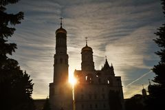 Tour d'Ivan Great Bell de Moscou Kremlin Site de patrimoine mondial de l'UNESCO photos libres de droits