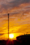 Tour d'observation au coucher du soleil Photo libre de droits