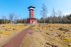 Tour d'observation de Kinnekulle en Suède Photos libres de droits