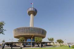 Tour d'observation du Bahrain à la chaussée Photographie stock libre de droits