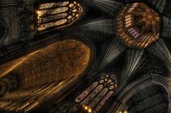 Tour d'octogone et vautling de la cathédrale d'Ely photo libre de droits