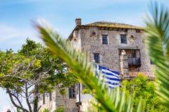 Tour d'Ouranoupolis sur la péninsule d'Athos dans Halkidiki image stock