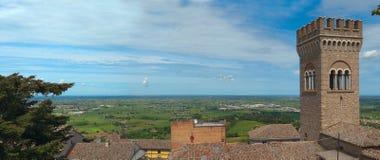 Tour dans Bertinoro, Italie. Image libre de droits