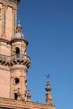 Tour dans la plaza Espana, Séville image libre de droits