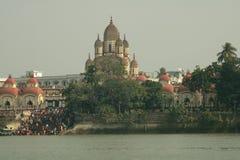 Tour de bateau sur la rivière le Gange photo stock