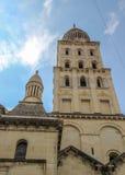 Tour de Bell, cathédrale de Perigueux, France image libre de droits