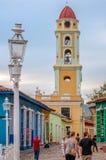 Tour de Bell colorée au Trinidad, Cuba Photographie stock libre de droits