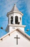 Tour de Bell d'église chrétienne Images libres de droits