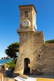 Tour de Bell d'église de notre Madame d'espoir à Cannes photographie stock libre de droits