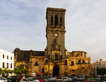 Tour de Bell de BasÃlica La Frontera d'Arcos De Photographie stock