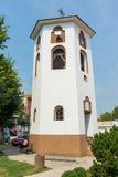 Tour de Bell de l'église de Saint-Nicolas dans la ville de Leskovac, Serbie Photographie stock