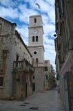 Tour de Bell de l'église de St John, ibenikde Å, Croatie Image libre de droits
