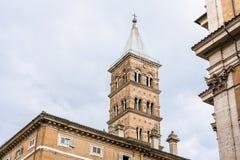 Tour de Bell de Santa Maria Maggiore à Rome Images libres de droits