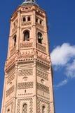 Tour de Bell de style mauresque d'église de San Andres photos libres de droits