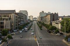 Tour de Bell province à Xi'an, Shaanxi, Chine Images libres de droits