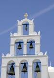 Tour de Bell sur l'île Thira Photographie stock libre de droits