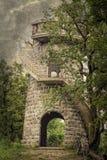 Tour de belvédère dans une forêt photographie stock