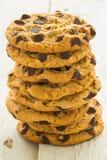 Tour de biscuits de puce de chocolat Photographie stock