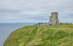 Tour de Briens de ` d'O aux falaises de Moher, Irlande Images libres de droits