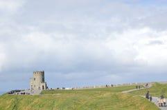 Tour de Briens de ` d'O, falaises de Moher, Irlande Image libre de droits