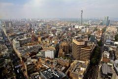 Tour de BT d'horizon de Londres et rue d'Oxford Image stock