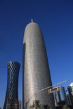 Tour de bureau de Doha, par Jean Nouvel, dans Doha, le Qatar Images libres de droits