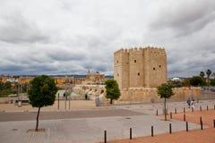 Tour de Calahorra et le pont romain Cordova l'espagne Photo stock
