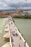 Tour de Calahorra et le pont romain Cordova l'espagne Photographie stock libre de droits