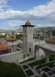 Tour de canalisation de château d'Akhaltsikhe Rabati image libre de droits
