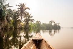 Tour de canoë en Afrique Photo libre de droits