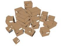 tour de cartons Photographie stock libre de droits