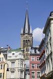 Tour de cathédrale d'Aix-la-Chapelle Photographie stock
