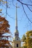 Tour de cathédrale de Peter et de Paul à St Petersburg Photos libres de droits