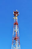 Tour de cellules et antenne par radio Photo libre de droits