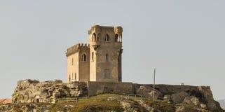 Tour de château dans le sideview de tarrifa Images stock