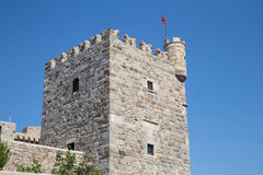 Tour de château de Bodrum Photo libre de droits
