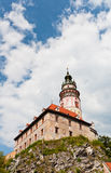 Tour de château de Cesky Kurmlov Photo libre de droits