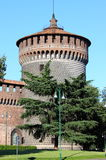 Tour de château de Milan photo libre de droits
