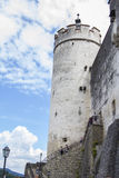 Tour de château de Salzbourg Hohensalzburg Photos stock