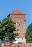 Tour de château de Wawel à Cracovie en Pologne photos stock