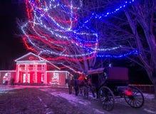 Tour de chariot de Noël image stock