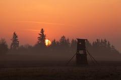 Tour de chasseurs Photos stock