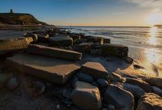 Tour de Clavell à la baie de Kimmeridge Photographie stock libre de droits