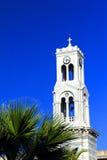 Tour de cloche d'église grecque Photos stock