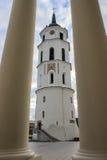 Tour de cloche de cathédrale de Vilnius Photos stock