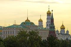 Tour de cloche grande de palais de Kremlin, tour et cathédrale a d'archange Photographie stock libre de droits