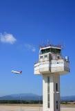 Tour de contrôle d'aéroport Photo stock